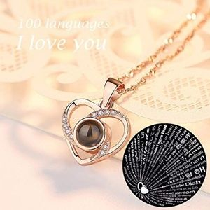 Jewelry - I Love You 100 Languages Projection Necklace